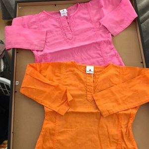 Other - Lot of 2 baby girls Absorba tops SZ 4, beautiful!